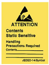 ESD/Static Control Warning Labels